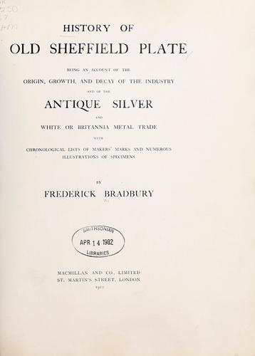 Download History of old Sheffield plate