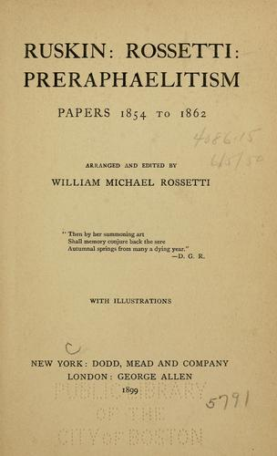 Download Ruskin: Rossetti: preraphaelitism