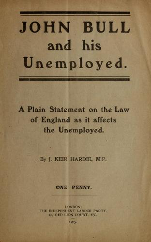 John Bull and his unemployed