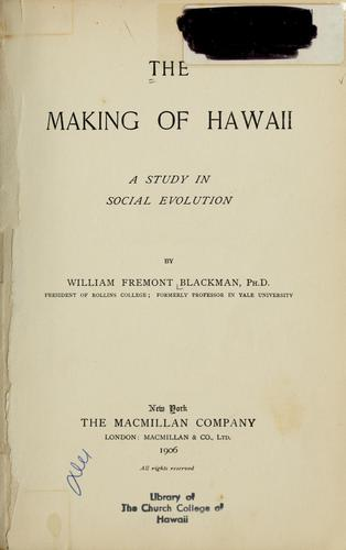 The making of Hawaii