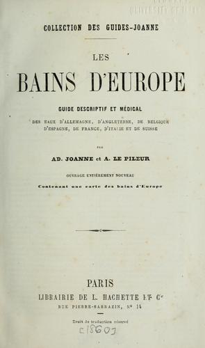 Les bains d'Europe by Joanne, Adolphe Laurent