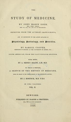 Download The study of medicine.