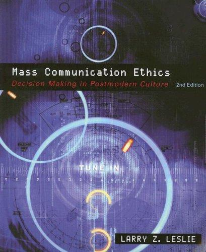 Download Mass communication ethics
