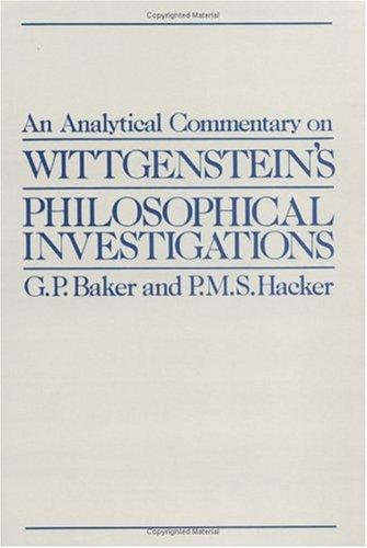 An analytical commentary on Wittgenstein's philosophical investigations