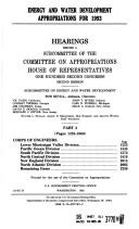 Download Energy and water development appropriations for 1993