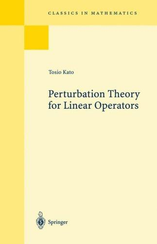 Download Perturbation theory for linear operators