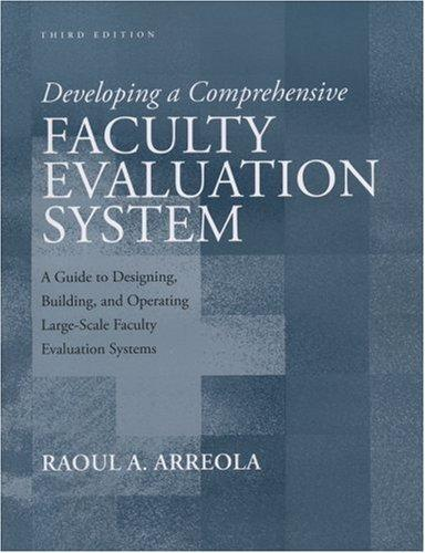 Download Developing a Comprehensive Faculty Evaluation System