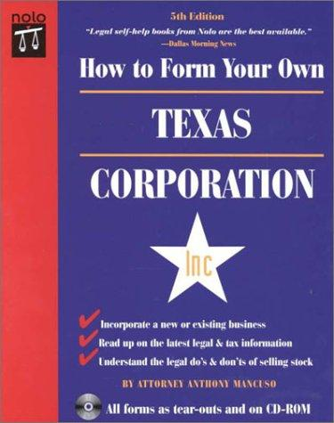 Download How to Form Your Own Texas Corporation