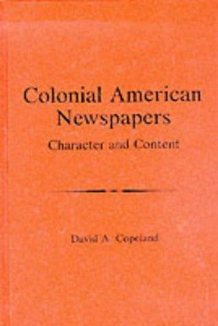 Colonial American newspapers