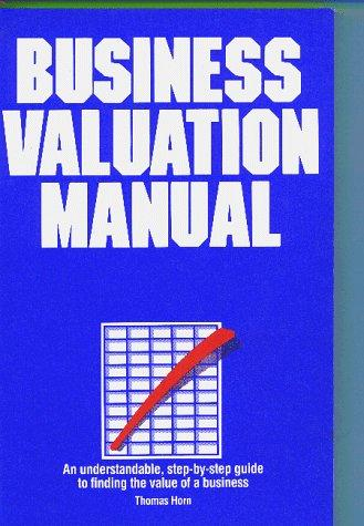 The business valuation manual