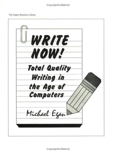 Write now! by Egan, Michael