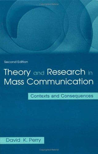 Download Theory and Research in Mass Communication
