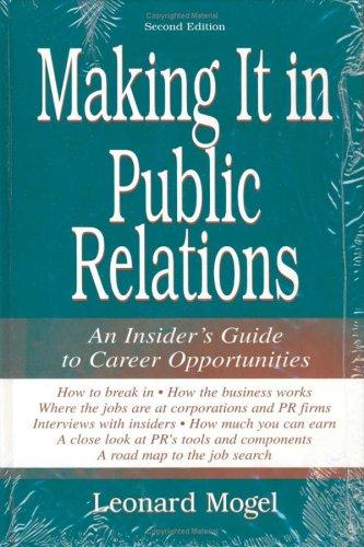 Download Making It in Public Relations