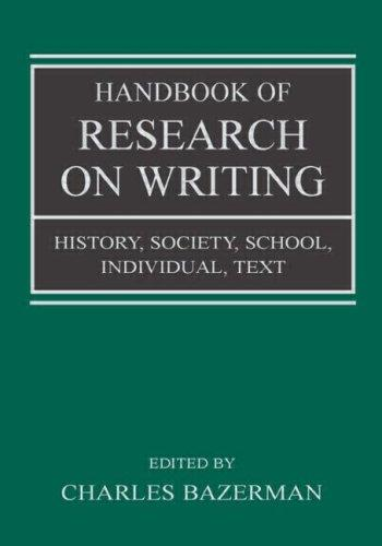 Download Handbook of Research on Writing
