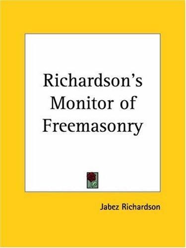 Download Richardson's Monitor of Freemasonry