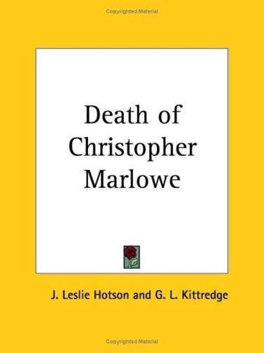 Download Death of Christopher Marlowe