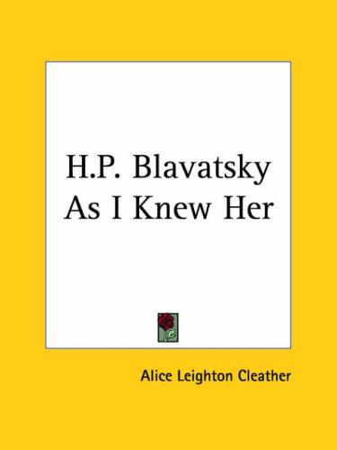 Download H.P. Blavatsky As I Knew Her