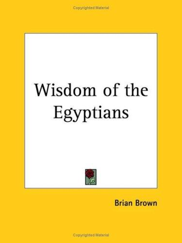 Download Wisdom of the Egyptians