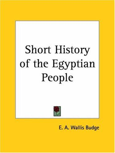 Short History of the Egyptian People