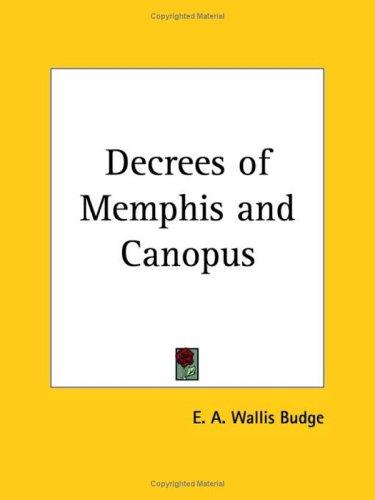 Download Decrees of Memphis and Canopus