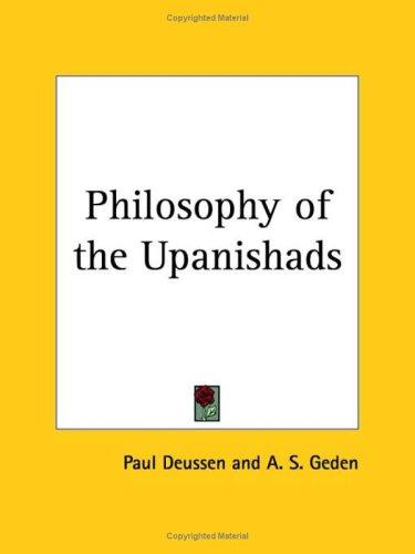 Download Philosophy of the Upanishads