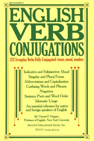 English verb conjugations