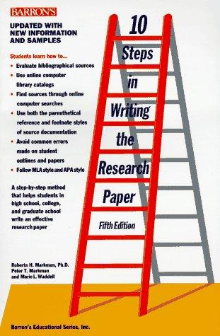 10 steps in writing the research paper