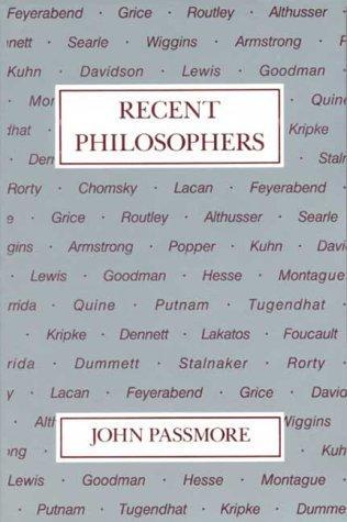 Download Recent Philosophers