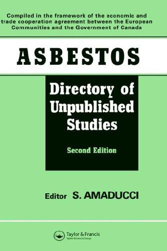 Asbestos, directory of unpublished studies