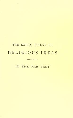Download The early spread of religious ideas