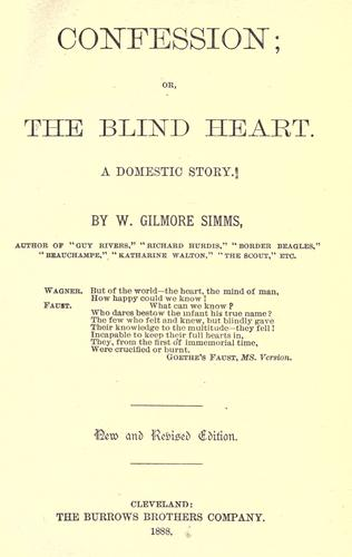 Confession, or, the blind heart