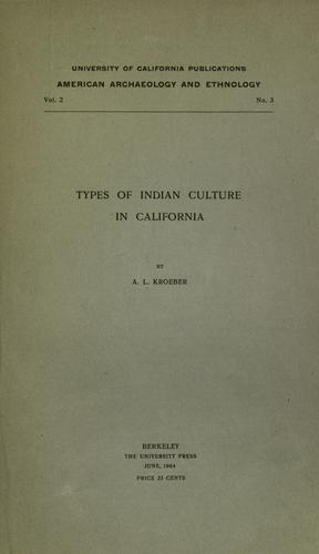 Types of Indian culture in California