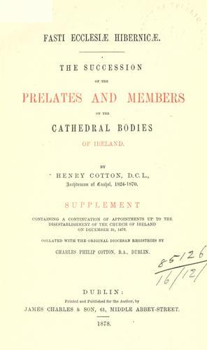 Download Fasti ecclesiae Hibernicae