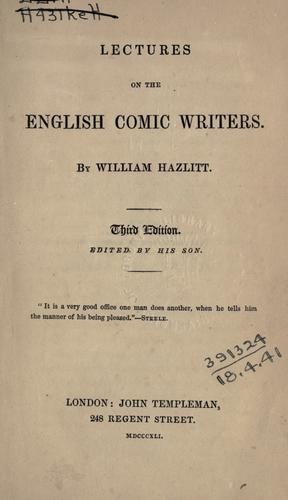 Download Lectures on the English comic writers.