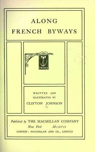 Download Along French byways.