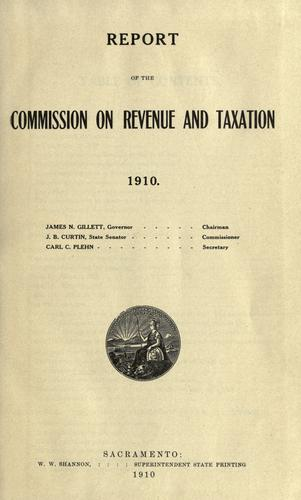Report: Tax Reform and Fairness Commission Report