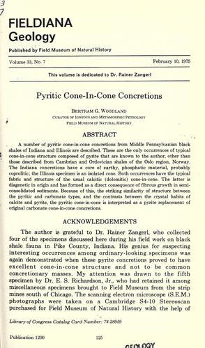 Pyritic cone-in-cone concretions