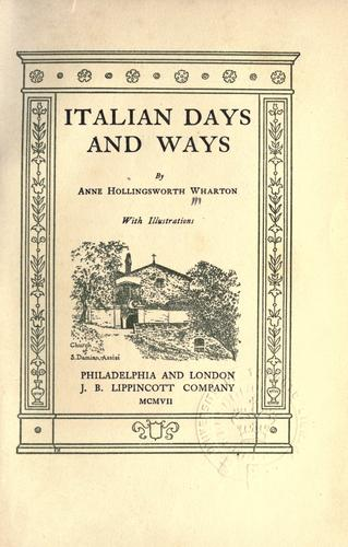 Download Italian days and ways.