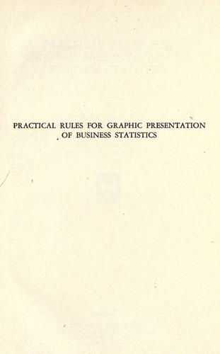 Download Practical rules for graphic presentation of business statistics