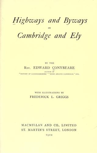 Download Highways and byways in Cambridge and Ely.