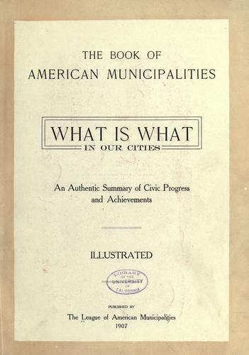 Download The book of American municipalities