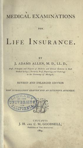 Download Medical examinations for life insurance.
