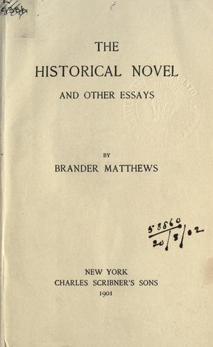 Download The historical novel, and other essays.