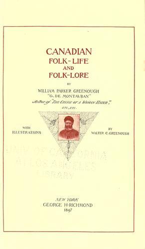 Canadian folk-life and folk-lore