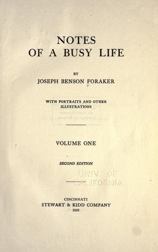 Download Notes of a busy life