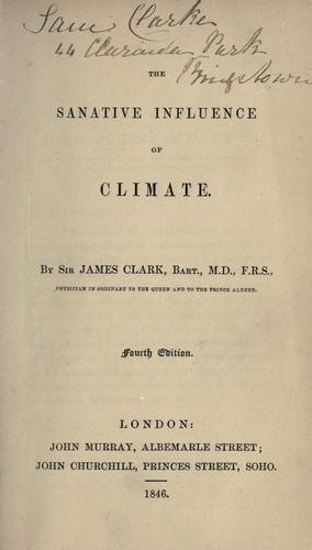 Download The sanative influence of climate.