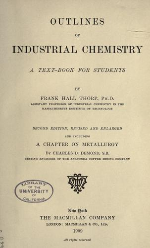 Download Outlines of industrial chemistry