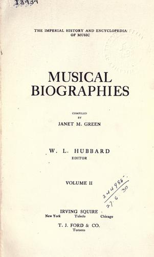 The  imperial history and encyclopedia of music.