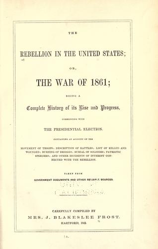 Download The rebellion in the United States