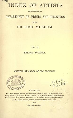 Download Index of artists represented in the Department of Prints and Drawings in the British Museum.